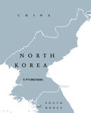 North Korea political map Stock Image