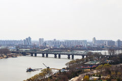 North Korea, Pyongyang, April, 2012 - the eve of the 100 anniver Stock Image