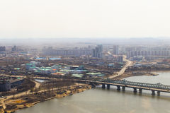North Korea, Pyongyang, April, 2012 - the eve of the 100 anniver Stock Images