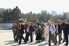 North Korea, Pyongyang, April, 2012 - the eve of the 100 anniver Stock Photo