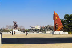 North Korea, Pyongyang, April, 2012 - the eve of the 100 anniver Royalty Free Stock Images