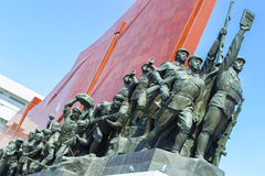 North Korea, Pyongyang, April 13, 2012, - Mansudae Hill Stock Photography