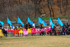 North Korea, Pyongyang, April 15, 2012 - South Gate of Taesŏng- Royalty Free Stock Images
