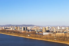 North Korea, Pyongyang, April, 2012 - Tedongan river, view of th Stock Photography