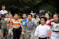 North Korea's children 2013 Royalty Free Stock Photography