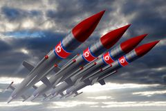 North Korea, missiles Royalty Free Stock Photos