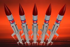 North Korea, missiles Stock Photography
