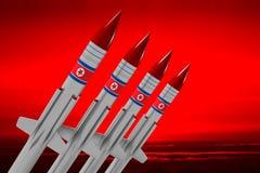 North Korea, missiles Stock Photo