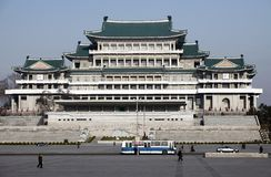 North korea's national library. Here is the National Library of North Korea.This is a North Korean national characteristics of the building.It is also the Royalty Free Stock Photography