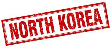 North Korea stamp. North Korea square grunge stamp. North Korea sign. North Korea royalty free illustration