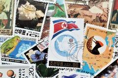 North Korea on stamps Stock Image