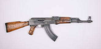 North Korean assault rifle. Kalashnikov. stock photo