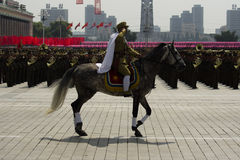 North Korean cavalry Royalty Free Stock Photo