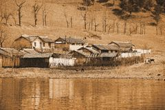 North Korean farmhouse Stock Image