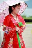 North Korean female royalty free stock photography