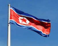 North Korean Flag Stock Image