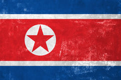 North Korean Flag Royalty Free Stock Photos