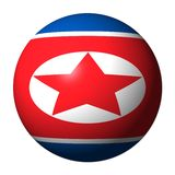 North Korean flag sphere Stock Photo