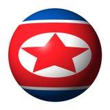North Korean flag sphere Stock Photo