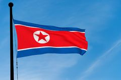 North Korean Flag Royalty Free Stock Images
