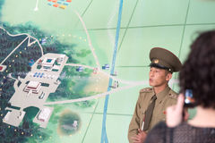 North Korean military officer in the DMZ Royalty Free Stock Images