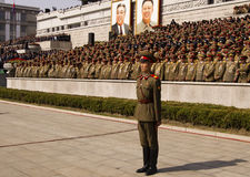North Korean military officers Royalty Free Stock Photography