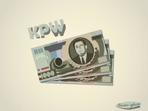 North korean money paper vector design Royalty Free Stock Image