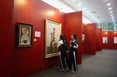 North Korean Painting Exhibition Stock Photos