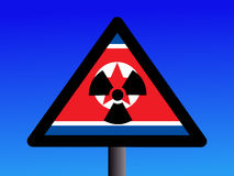 North Korean radioactive sign Stock Images
