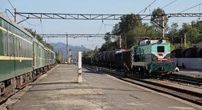 North korean railway platform royalty free stock image