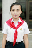 North Korean schoolgirl Stock Images