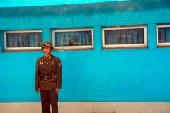 North-Korean soldier, Panmunjon, North-Korea Royalty Free Stock Images