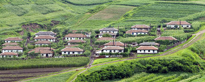 North Korean villages Royalty Free Stock Photo