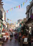 The North Laines Brighton on a sunny day. royalty free stock photo