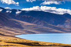 North lake shore of Tangra Yumco Royalty Free Stock Images