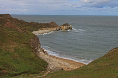 North Landing, Flamborough head. Stock Photos