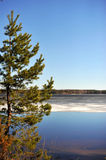 North landscape in Finland.. April Royalty Free Stock Images