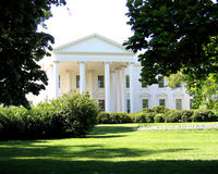 North Lawn of White House. North entrance and lawn to the White House in Washington, D.C Stock Photo