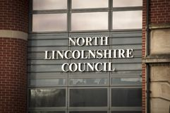 North Lincolnshire Council Building Entrance in Church Square - Scunthorpe, Lincolnshire, United Kingdom - 23rd January 2018 stock image