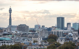 North London skyline and the BT Tower Royalty Free Stock Image