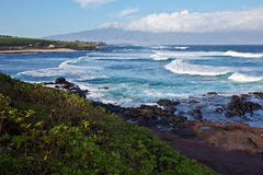 North Maui's Coastline Stock Image
