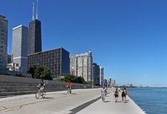 North Michigan area of Chicago Royalty Free Stock Photo