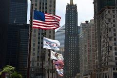 North Michigan Flags Royalty Free Stock Photo