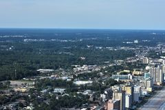North Myrtle Beach Aerial View. Aerial view of North Myrtle Beach Landscape in South Carolina, USA royalty free stock photography