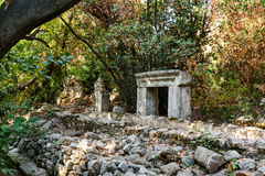 North Necropolis. Ruins of ancient city Olympos in Lycia. Turkey Stock Photos