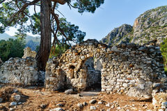 North Necropolis. Ruins of ancient city Olympos in Lycia. Turkey Royalty Free Stock Images
