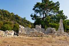 North Necropolis. Ruins of ancient city Olympos in Lycia. Turkey Royalty Free Stock Photo