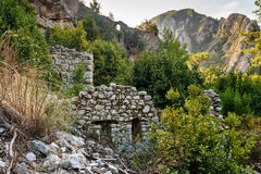 North Necropolis. Ruins of ancient city Olympos in Lycia. Turkey Stock Image