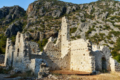 North Necropolis. Ruins of ancient city Olympos in Lycia. Turkey Stock Images