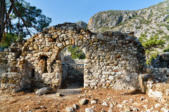 North Necropolis. Ruins of ancient city Olympos in Lycia. Turkey Stock Photo